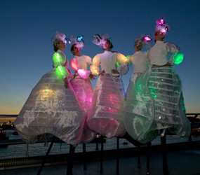 LED GOSSAMER STILTS HIRE