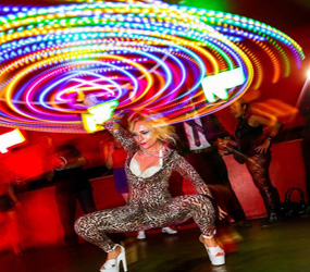 greatest showman themed acts to hire - LED HULA HOOPER ACTS TO HIRE MANCHESTER LONDON UK