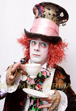 ALICE IN WONDERLAND THEMED ENTERTAINMENT- MAD HATTER LOOKALIKE & MC- LONDON
