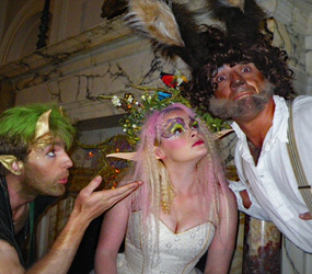 MIDSUMMER NIGHTS DREAM THEMED ENTERTAINMENT - TITANIA PUCK AND BOTTOM ACTORS TO HIRE UK