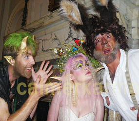 MIDSUMMER NIGHTS DREAM THEMED ENTERTAINMENT - THE MIDSUMMER PLAYERS TITANIA, PUCK, BOTTOM AND OBERON PERFORMER HIRE