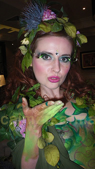 MIDSUMMER NIGHTS DREAM AND ENCHANTED GARDEN THEMED ENTERTAINMENT - BODY PAINTED FLOWER FAIRY CREATED BY CALMER KARMA ENTERTAINMENT - UK