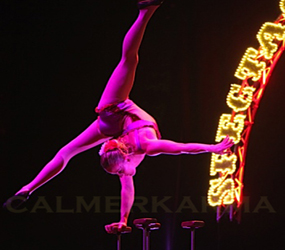 GREATEST SHOWMAN DARING HAND BALANCING ACROBATS TO HIRE