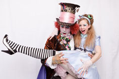 Alice in Wonderland themed entertainment - you're late naughtea!