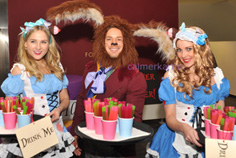 ALICE IN WONDERLAND THEMED ENTERTAINMENT  HARE HOST AND ALICE HOSTESSES