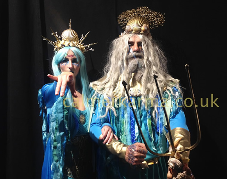 under the sea themed entertainment - NEPTUNE GREETER &  MC + QUEEN OF THE SEA GREETERS TO HIRE