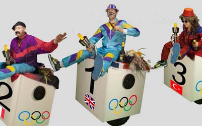 OLYMPICS THEMED ENTERTAINMENT - MOVING MEDAL PODIUMS