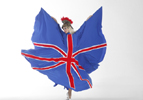 OLYMPIC THEMED ENTERTAINMENT - RULE BRITANNIA ILLUMINATED DANCER