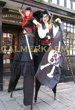 PIRATE THEMED ACTS - PIRATE STILT DUO