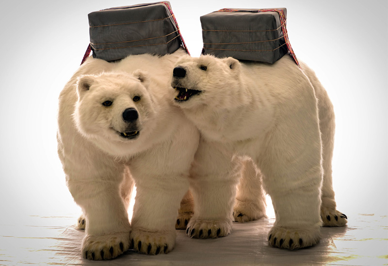 ANIMATRONIC POLAR BEAR ACT FOR HIRE - UK WINTER THEMED ENTERTAINMENT