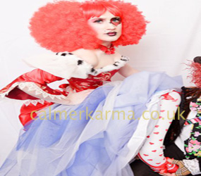 ALICE IN WONDERLAND THEMED ENTERTAINMENT - RED QUEEN PERFORMER - TWISTED -UK