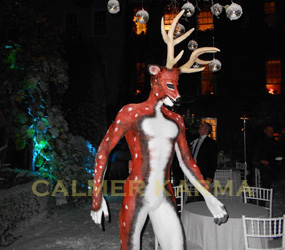 winter wonderland themed entertainment live reindeer man act to hire