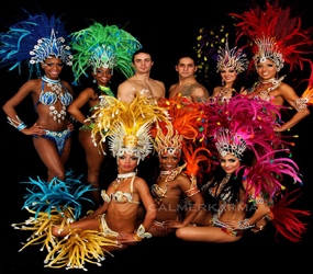 RIO AND BRAZILIAN CARNIVAL THEMED ENTERTAINEMNT TO HIRE
