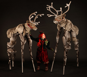REINDEER STILTS - LUXURY STILTS WITH GLAMOUROUS ELF HELPER
