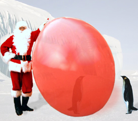 CHRISTMAS THEMED ENTERTAINMENT SANTA AND THE GIANT BALLOON TO HIRE
