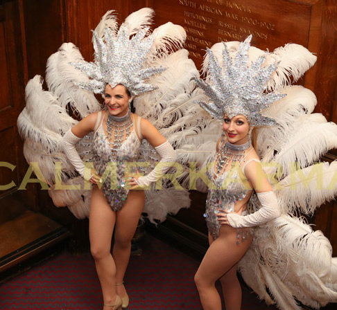 SHOWGIRL HOSTESSES TO HIRE UK - VEGAS, JAMES BOND OR PARISIAN THEMED EVENTS