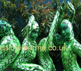 JUNGLE - SNAKE CONTORTIONIST PERFORMERS TO HIRE UK