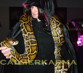 SNAKE WALKABOUT ACTS TO HIRE HALLOWEEN ARABIAN THEMED