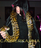 SNAKE WALKABOUT ACTS TO HIRE MANCHESTER BIRMINGHAM LONDON UK