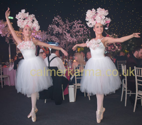 spring themed performers - SPRING BLOSSOM BALLERINAS HIRE MANCHESTER, LONDON