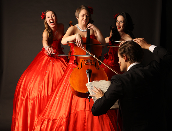 STILT STRINGS ACT TO HIRE - CLASSICAL MUSICIANS ON STILTS