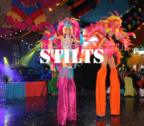 STILT WALKERS TO HIRE INDEX - CHRSTIMAS, RIO,HALLOWEEN,CHINESE PARADE STILT WALKERS