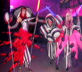 STUDIO 54 THEMED PSYCHODELICS STILTS