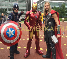 SUPERHERO LOOKALIKE ACTS TO HIRE IRONMAN TO THOR TO CAPTAIN AMERICA