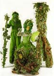 stilts green themed with trees and mother earth