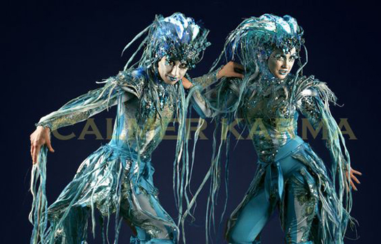 WATER AND UNDER THE  SEA THEMED ENTERTAINMENT - THE SIRENS - AERIAL ACROBATIC ACT UK