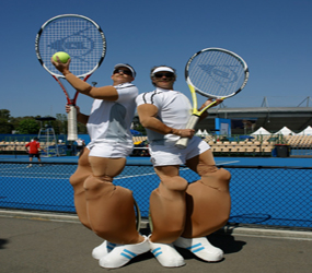 TENNIS STILT WALKERS - WIMBLEDON, BEST OF BRITISH AND SPORTS THEMED ENTERTAINMENT HIRE