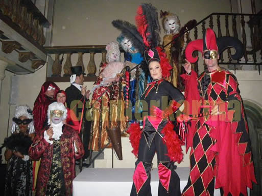 VENETIAN MASKED BALL THEMED ENTERTAINMENT - PERFORMERS AT CANNES EVENT