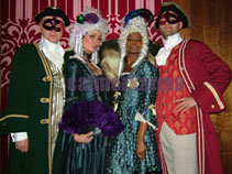VENETIAN MASKED BALL THEMED ENTERTAINMENT - BAROQUE GREETERS