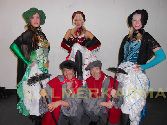VICTORIAN THEMED ENTERTAINMENT - TAVERN GIRL DANCERS + CHIMNEY SWEEP CHARACTERS - UK