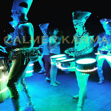 water themed entertainment - eerie water themed LED Drummers UK