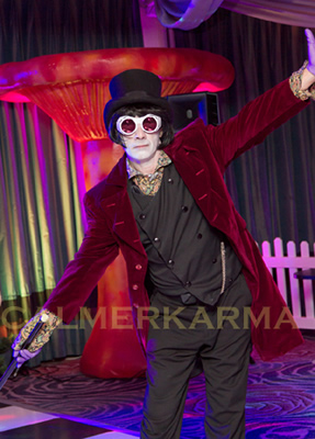 WILLY WONKA THEMED ENTERTAINMENT - WILLY WONKA LOOKALIKE ACT UK