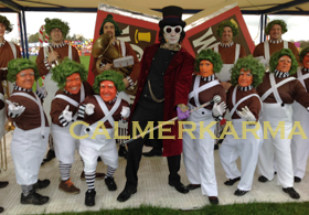 WILLY WONKA THEMED ENTERTAINMENT TO HIRE FROM OOMPA LOOMPA ACTS TO CANDY GIRLS TO LOOKALIKES