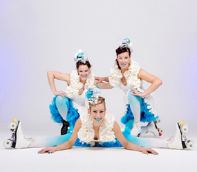 WINTER WONDERLAND THEMED ENTERTAINMENT - ICE BELLES ROLLER SKATERS ACT