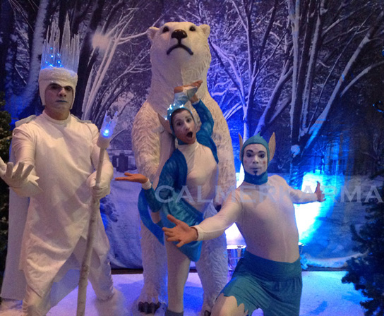 WINTER WONDERLAND THEMED STAGED SHOWS TO HIRE