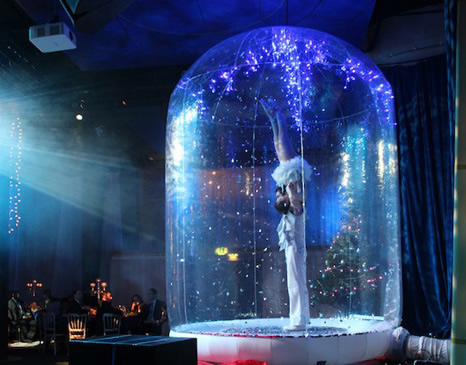 WINTER WONDERLAND THEMED ENTERTAINMENT - SNOW GLOBE ACROBATIC ACT