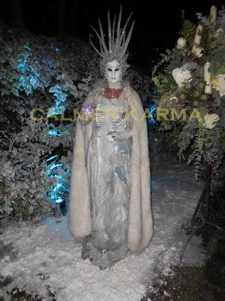 WINTER WONDERLAND THEMED ENTACTS- ICE QUEEN LIVING STATUE