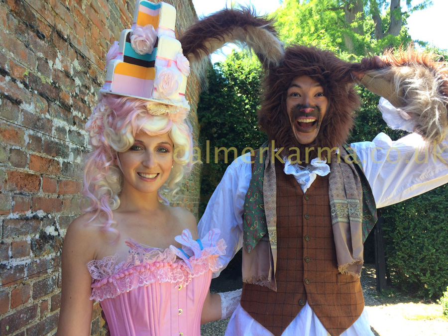 ALICE IN WONDERLAND THEMED HOST MAD-MARCH-HARE+HOSTESS-CAKE-TADAH TO HIRE MANCHESTER, ESSEX, HARROGATE, LONDON