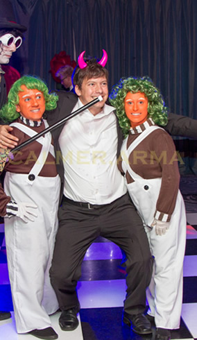 CHARLIE AND THE CHOCOLATE FACTORY THEMED PARTY ENTERTAINMENT - DWARF OOMPA LOOMPAS