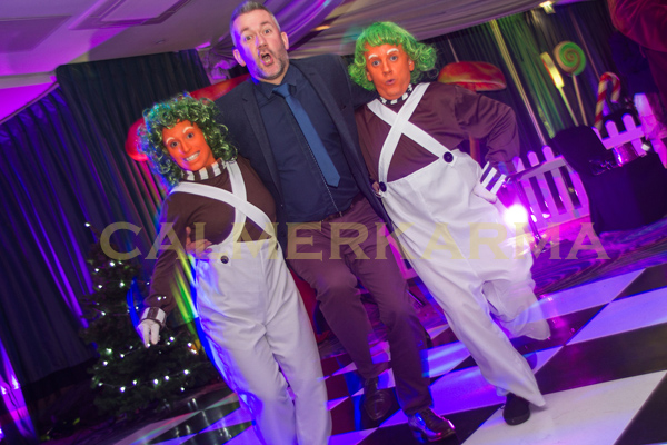 WILLY WONKA THEMED ENTERTAINMENT - DWARF OOMPA LOOMPAS DANCE ACT