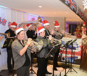 CHRISTMAS THEMED BANDS - BRASS BANDS PLAYING CAROLS AND FESIVE TUNES LONDON