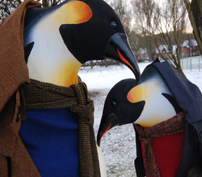 WINTER WONDERLAND THEMED PERFORMERS TO HIRE - THE PENQUINS