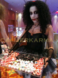 ZOMBIE DOLLS CANDY & CANAPE HOSTESSES TO HIRE LONDON & MANCHESTER
