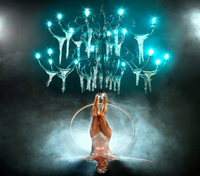 SPECTACULAR AERIAL CHANDALIER ACT - AERIAL ACROBATS LONDON HARROGATE MANCHESTER