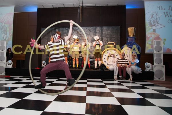 ALICE IN WONDERLAND STAGED ACTS- TWEEDLE ACROBATIC CYR WHEEL -UK