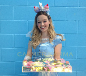 ALICE IN WONDERLAND PARTY THEMED HOSTESSES - ALICE CANAPE AND DRINKS HOSTESS UK
